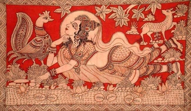 images of kalamkari paintings